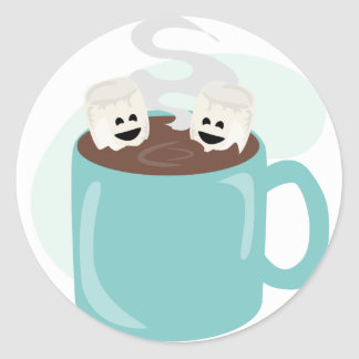 Just Marshmellows in Chocolate Classic Round Sticker