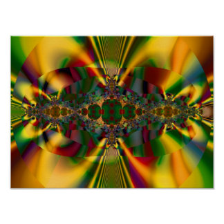 Just Math Cool Abstract Fine Fractal Art Poster