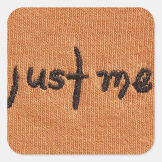 Just Me Logo! Square Sticker