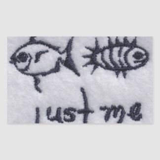 Just Me! Rectangular Sticker