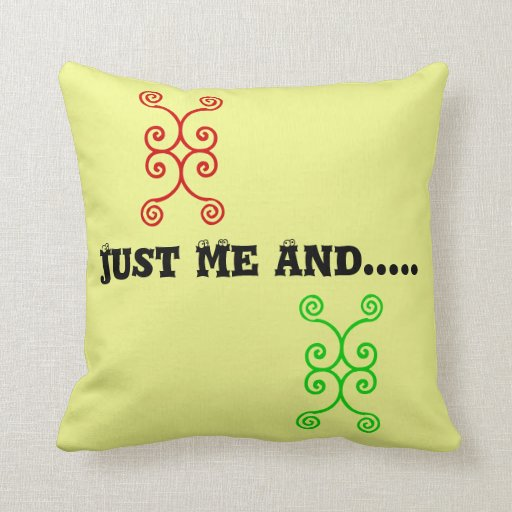 Just Me Throw Pillow Zazzle