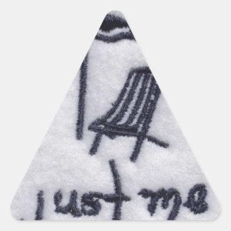 Just Me! Triangle Sticker