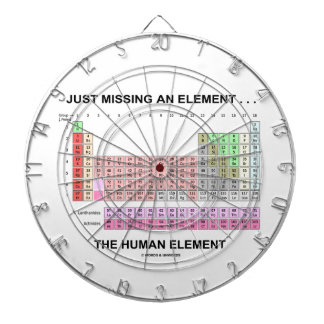 Just Missing An Element ... The Human Element Dartboard With Darts