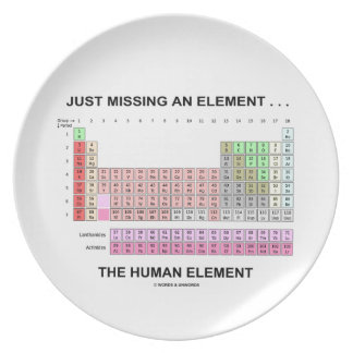 Just Missing An Element ... The Human Element Dinner Plate