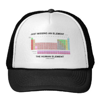 Just Missing An Element ... The Human Element Hat