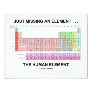 Just Missing An Element ... The Human Element Invitation