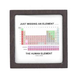 Just Missing An Element ... The Human Element Keepsake Box