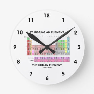Just Missing An Element ... The Human Element Round Clock