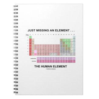 Just Missing An Element ... The Human Element Spiral Notebook