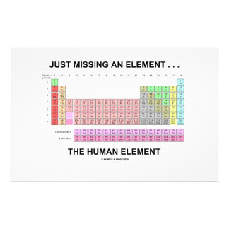 Just Missing An Element ... The Human Element Stationery