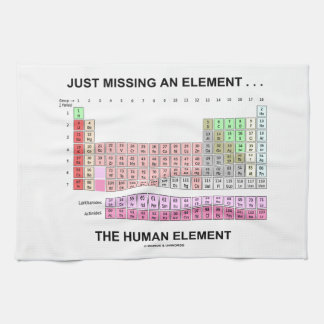 Just Missing An Element ... The Human Element Towels