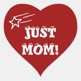 Just Mom Heart Sticker