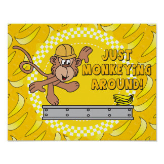Just Monkey Around Nursery Theme Poster