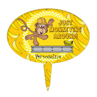 Just Monkeying Around Baby Shower Theme Cake Topper