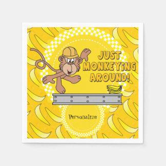 Just Monkeying Around Baby Shower Theme Napkin