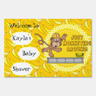 Just Monkeying Around Baby Shower Theme Sign