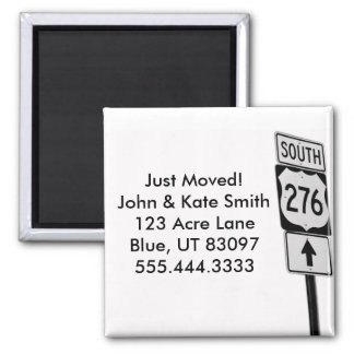 Just Moved / Change of Address / Road Trip Magnet