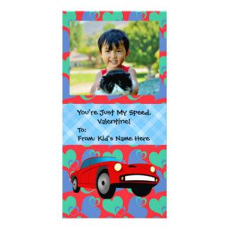 Just My Speed, Race Car Boys Kids Valentine Card