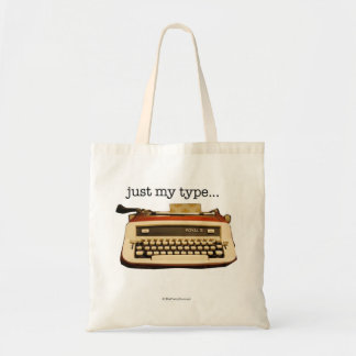 """just my type..."" canvas bag"