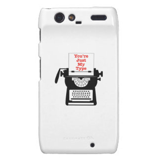 Just My Type Motorola Droid RAZR Cover