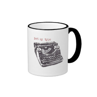 """just my type"" mugs"