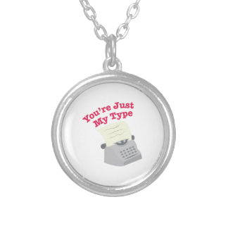 Just My Type Round Pendant Necklace