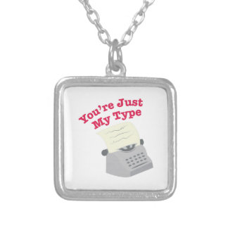 Just My Type Square Pendant Necklace
