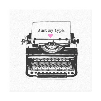 Just my Type/Retro Typewriter Typography Wall Deco Canvas Print