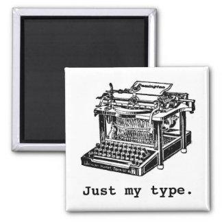 Just my type, Typewriter 2 Inch Square Magnet