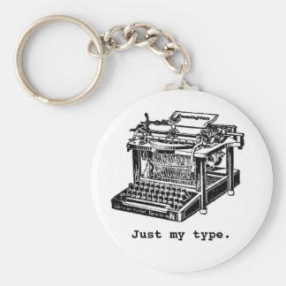 Just my type, Typewriter Basic Round Button Keychain