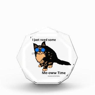 Just Need Meow Time Acrylic Award
