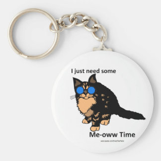 Just Need Meow Time Basic Round Button Keychain
