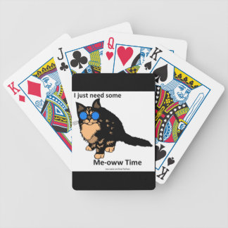 Just Need Meow Time Bicycle Playing Cards