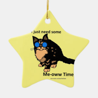 Just Need Meow Time Ceramic Ornament
