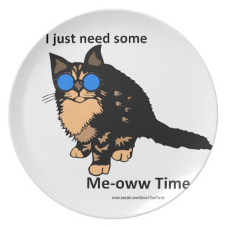 Just Need Meow Time Plate