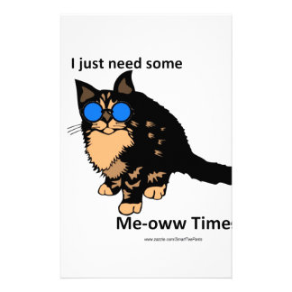 Just Need Meow Time Stationery