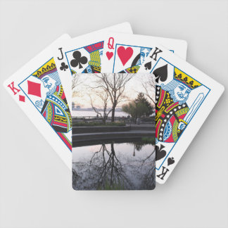 Just Now Near, NYC Skyline Bicycle Playing Cards