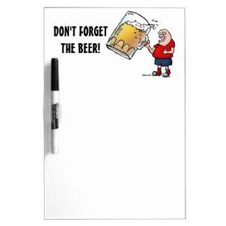 Just One BIG Beer Guy Dry-Erase Board
