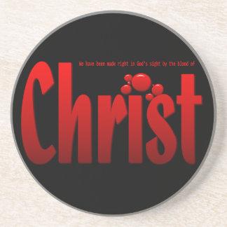 Just One Drop - Romans 5:9 Beverage Coasters
