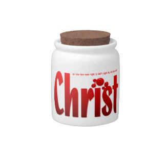 Just One Drop - Romans 5:9 Candy Jars