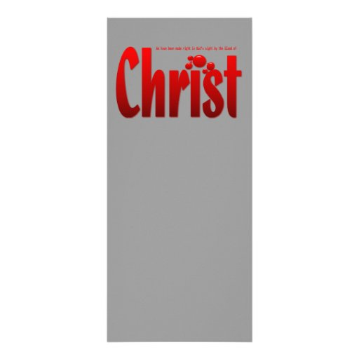 Just One Drop - Romans 5:9 Full Color Rack Card