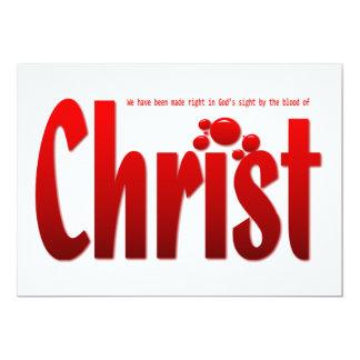 Just One Drop - Romans 5:9 5x7 Paper Invitation Card