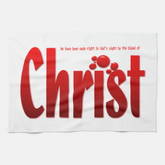 Just One Drop - Romans 5:9 Kitchen Towel