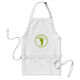 Just One Foot Shirt Adult Apron