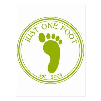 Just One Foot Shirt Postcard