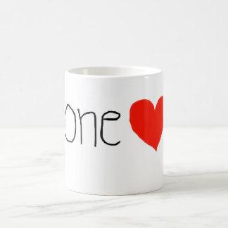 Just one heart! Custom Coffee Mugs!! Classic White Coffee Mug