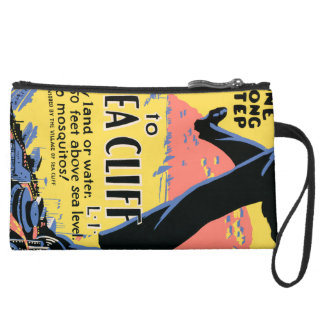 Just one long step to Sea Cliff Wristlet Clutch