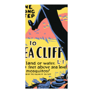 Just one long step to Sea Cliff Card