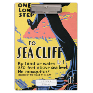 Just one long step to Sea Cliff Clipboard