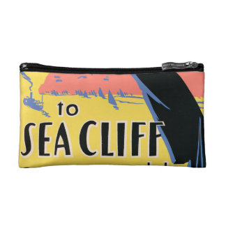 Just one long step to Sea Cliff Cosmetic Bag